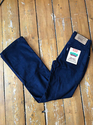 NEW WITH TAGS Deadstock Vintage LEVIS cord Jeans 527 FLARES W27 L32 Corduroy 70s