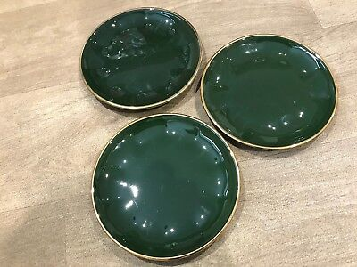 APILCO Green and Gold Coffee Cups and Saucers x 3 - French Bistro ...