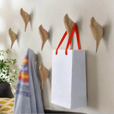 Creative 3D Bird Shape Coat Hat Clothes Hanger Wall Mounted Hook Home Decor Exqu