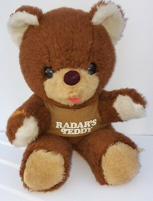 VINTAGE 1983 RADAR'S TEDDY BEAR M*A*S*H 4077th in USED CONDITION