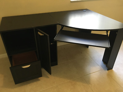 Realspace Magellan Collection: L Shaped Desk (Expresso Color)   LOCAL ONLY