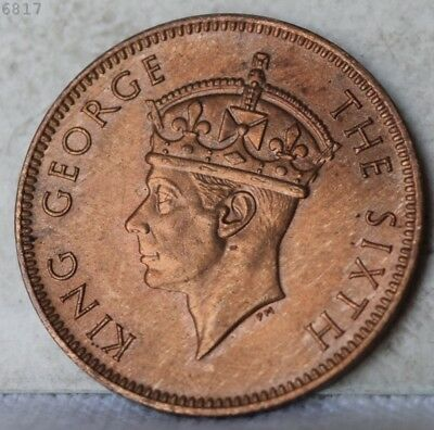 """1948 Seychelles 2 Cent """"CHOICE BU RED BROWN"""" *Free S/H After 1st Item*"""