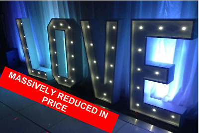 LIGHT UP GIANT LOVE Letters Wedding Party Props - £699 00 | PicClick UK
