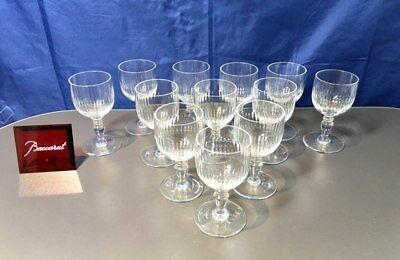 Baccarat Crystal Renaissance Service 12 Vermouth Glasses - Calici Vermuth NEW