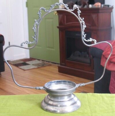 Antique Brides Basket Holder - Quadruple Silverplate marked