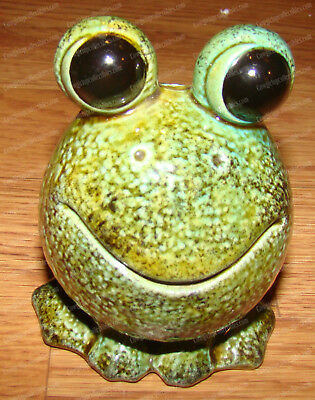 Vintage Smiling Toad (Frog) Incense Burner (Spencer Gifts) Big Eyes