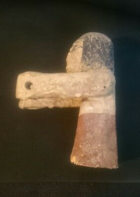 Ancient Egyptian wooden boat man