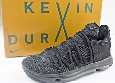 d2c9553b60ad Nike Zoom KD10 KDX Mens Size 9.5 Basketball Shoes Triple Black 897815 004
