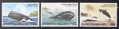1982 Norfolk Island Stamps - Whales - Set of 3 MNH