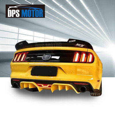 R-Tech Rear Bumper Diffuser Lower Valance Lip Body kit For 2015-18 Ford Mustang