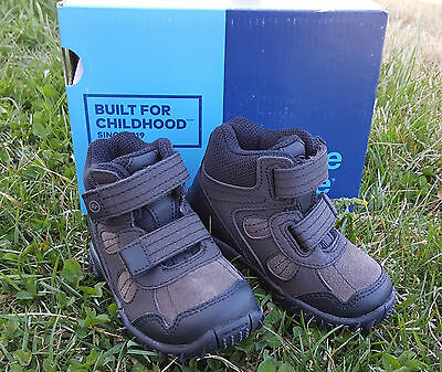 New Stride Rite Boy's Boots Rugged Ritchie 2 Dark Brown Leather Size 5 W Hiking