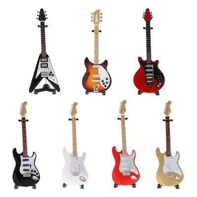 Miniature Electric Guitar Model Replica Hobby Collectibles Toy Gift 1/6 Scale