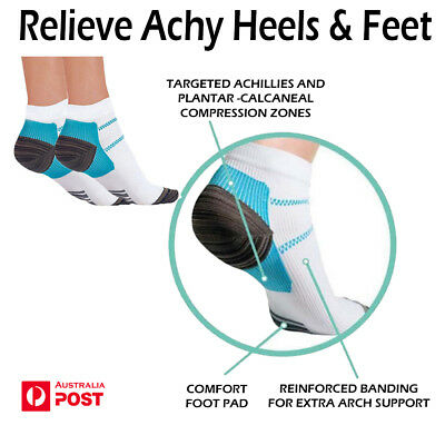 Hot Sports Compression Socks Plantar Fasciitis Heel Arch Pain Relief Unisex   AU
