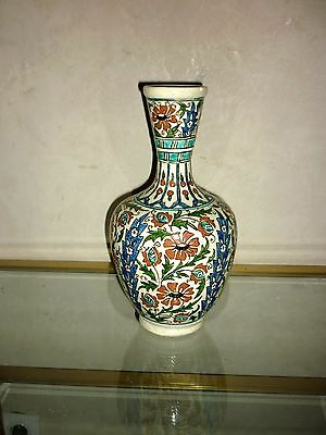 Iznik Pottery Vase Ceramic Ottoman Antique 19Th Moroccan