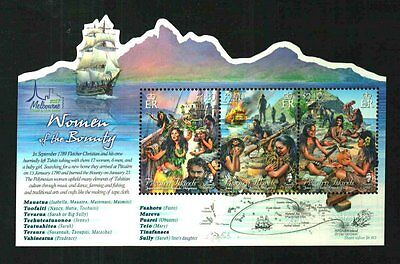 Pitcairn Islands Melbourne Ovpt Women Of The Bounty Sheet Sold Out Mnh