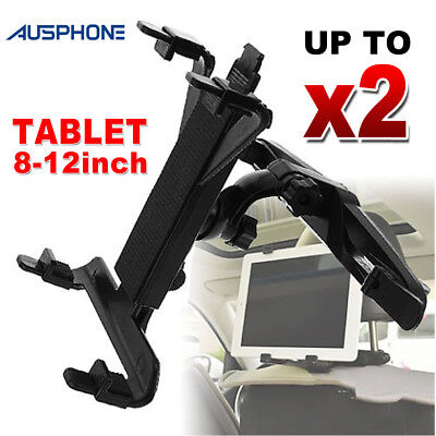 2x Universal Car Mount Seat Headrest Holder For iPad Samsung Android Tablet 8-12