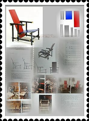 bauanleitung nachbau rietveld chair stuhl red blue rot. Black Bedroom Furniture Sets. Home Design Ideas