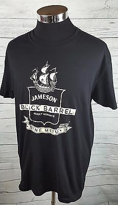 Jameson Irish Whiskey T-Shirt Black Barrell Select Reserve Sine Metu Size L New
