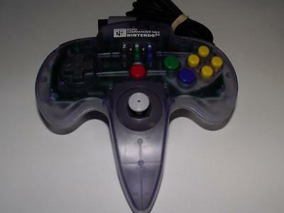 Hori Commander Nintendo 64 N64 Clear Blue Controller Refurbed Toggle