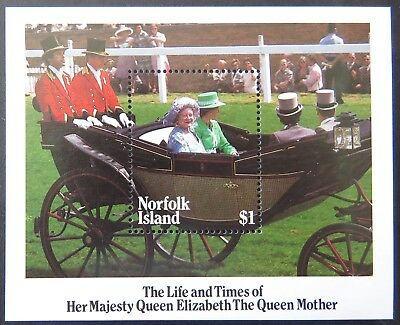 1985 Norfolk Island Stamps - Life of Her Majesty Queen Mother - Mini Sheet MNH