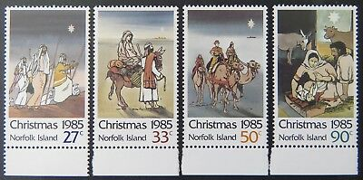 1985 Norfolk Island Stamps - Christmas - Set of 4 - Tabs MNH