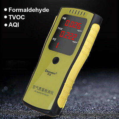 Digital Formaldehyde Detector HCHO TVOC AQI Meter Air Quality Tester Indoor Home
