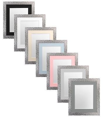 Popstar Sparkling Mosaic Style Picture Photo Frame & choice of Coloured Mounts