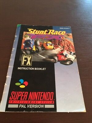 Stunt Race Suoer Nintendo Instruction Manual Only