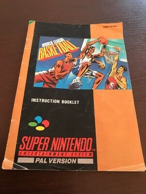 World league basketball Snes Manual Only