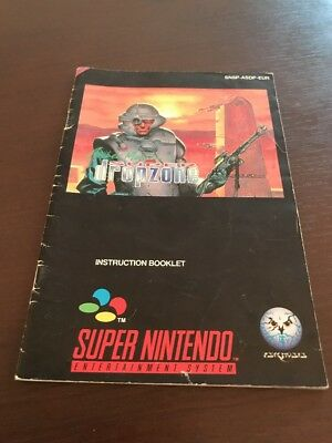 Super Drop Zone Super Nintendo Instruction Manual Only