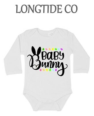 Easter,Baby Bunny, New Baby Vest Baby/Grow/Gift,Personalised,New Mum,auntie,Gift