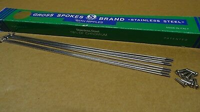 Aci Alpina Aero Stainless Steel Spokes 282mm x 2.0mm With Nipples x 8