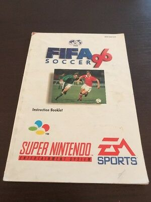 Fifa 96 Super Nintendo Instruction Manual Only