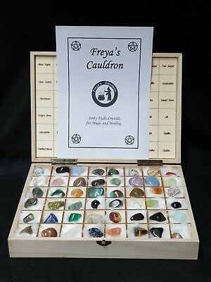 Forty-Eight Crystals for Magic and Healing ~ Wooden Box Set ~ Altar ~ Ritual