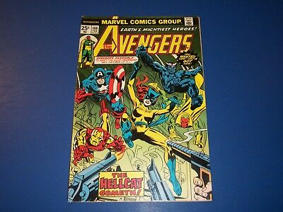 Avengers #144 Bronze age 1st Hellcat Key Wow Fine+ Beauty