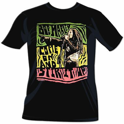 Bob Marley Come On And Stir It Up T-Shirt NEW Black, SM-MD