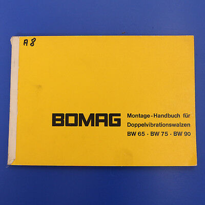 Bomag BW65 BW75 BW90 Walze Doppelwalze Montage Handbuch Reparaturanleitung