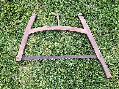 Vintage Antique Wooden Carpenters Bow Saw Ideal Display Oak Pub Beam Wall