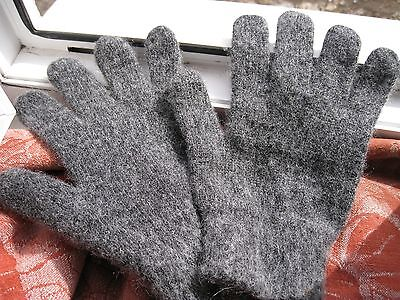 Men/'s GLOVES RIBBED 100/%  SHEEP WOOL  HOMEMADE Russian craft warm soft