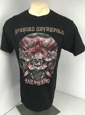 Avenged Sevenfold Hail to the King Concert Tour T-Shirt 2013 Skull Graphic XL