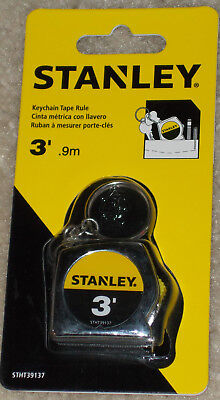 Stanley Measuring Tape Measure Rule Small Portable Pocket Size Keychain 3'x1/2'