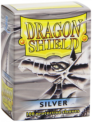 Dragon Shield Sleeves - SILVE - Standard Size Deck Protectors (100 ct) Arcane Ti