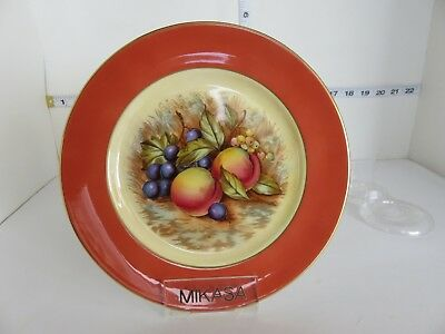 Vtg Aynsley Orchard Gold D Jones 8 1/8Th Inch Plate Lot 2 & VINTAGE Aynsley Orchard Gold Fruit Cheese plate - $38.00 | PicClick