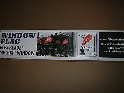 "LOT (5) Above All Advertising Metrix Window Flag Flex Blade ""CLEARANCE"""