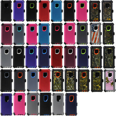 For Samsung Galaxy S9 / S9 Plus Defender Case Rugged Shockproof w/ Belt Holster