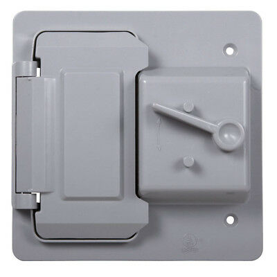 Hubbell TayMac 2-Gang Rectangle Plastic Weatherproof Electrical Box Cover, NEW!
