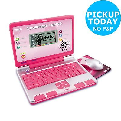 VTech Challenger Laptop40 Curriculum Activities Mouse and QWERTY Keyboard - Pink
