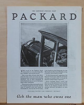 1921 magazine ad for Packard Truck - used by Westinghouse, record of long life