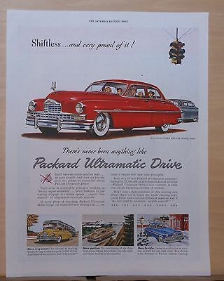 1949 magazine ad for Packard - Super Deluxe Touring Sedan, Shiftless and proud