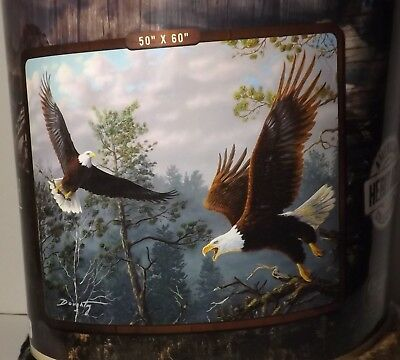 Eagles Throw Blanket Mast Cloud Art Terry Doughty 50X60 100% Polyester Northwest